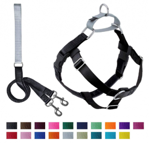 2 HOUNDS NO PULL HARNESS WITH LARGE LEASH