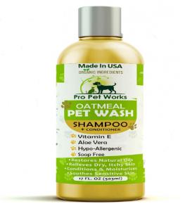Pro Pet Works Hypoallergenic Oatmeal Pet Wash Shampoo